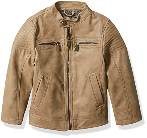 Urban Moto Jacket - Urban Republic Big Boys' PU Suede Faux Leather Moto Jacket, Saddle Brown, 10/12