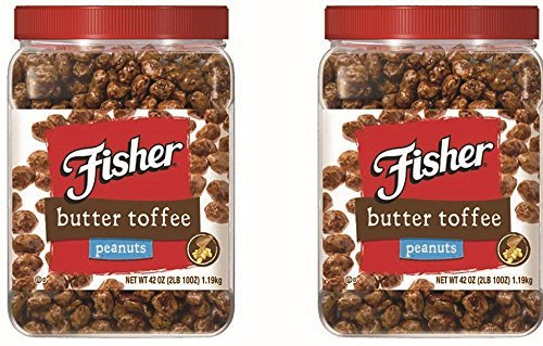 Fisher Butter Toffee Peanuts, 42-Ounce Packages (Pack of 2)