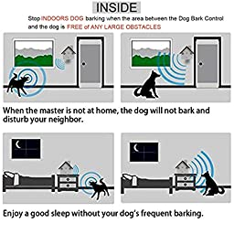 Petbob Dog Bark Controller, Anti Barking Device, Ultrasonic Waterproof Indoor and Outdoor Hanging Dog Noise Interceptor Silencer, Behavior Trainer Auxiliary Tool ,Christmas Festival Gift(Black)