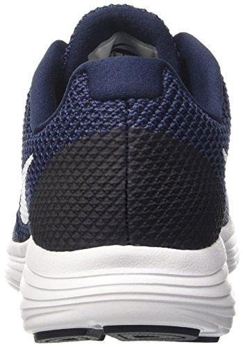 Nike Mens Revolution 3 Hardloopschoen Middernacht Marine / Wit / Obsidiaan
