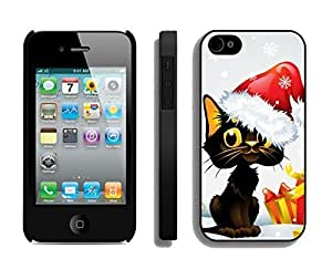 Personalization Christmas Cat With Jingling Bell Black PC SamSung Note 4s, SamSung Note 4 Case
