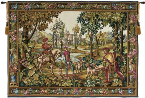 Tapestry, Extra Large, Wide - Elegant, Fine, French & Wall Hanging - Retour de Chase, C-H70xW110