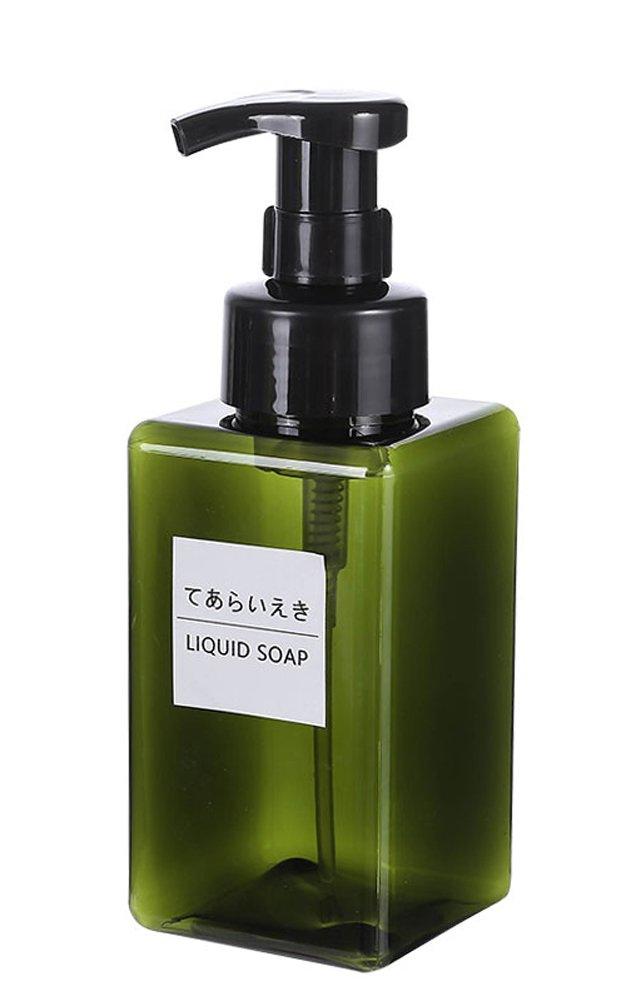 peacewish Foamingソープディスペンサーポンプボトルバスルーム洗面やキッチンのシンク、Countertops、Holds 14オンス液体ハンドソープボトル B07F8NWYS2 Green 450ml