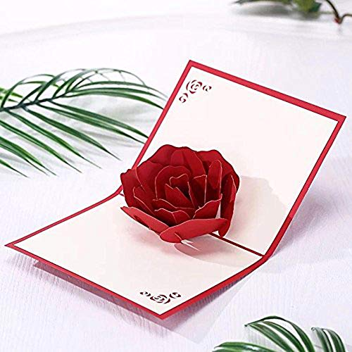 - Mother's Day Rose 3D Pop Up Cards - Handmade Pop Up Greeting Cards Gift Ideas For Girlfriends Wife Husband Couple, Wedding Gifts Invitations Birthday Thank You Cards Graduation Business Gifts