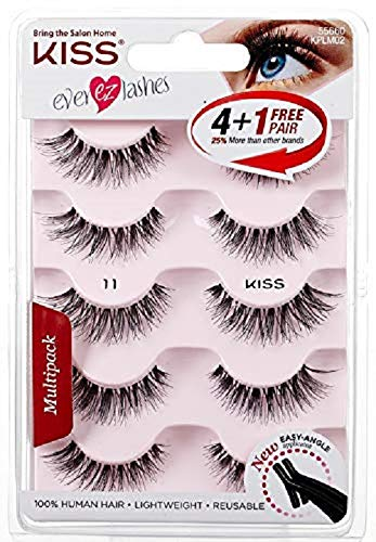 f1be6c6009b Amazon.com : Kiss Products No. 05 Ever EZ Lashes, 10 Count(5 Pairs) :  Eyelash Tools : Beauty