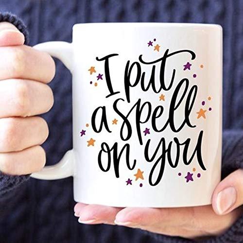 Daily Fashion Coffee Mug | I Put A Spell on You | Halloween Mug | Funny Mug | Witch Mug | Halloween Decor | Autumn Mug | Fall Mug