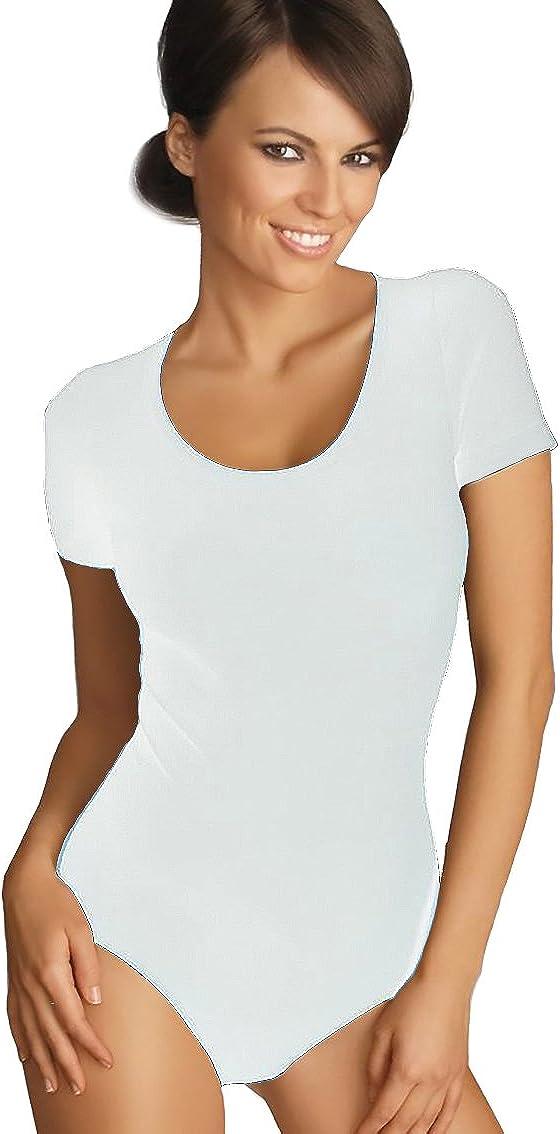stile t-shirt Body a maniche corte con girocollo Gatta elevato comfort senza cuciture laterali