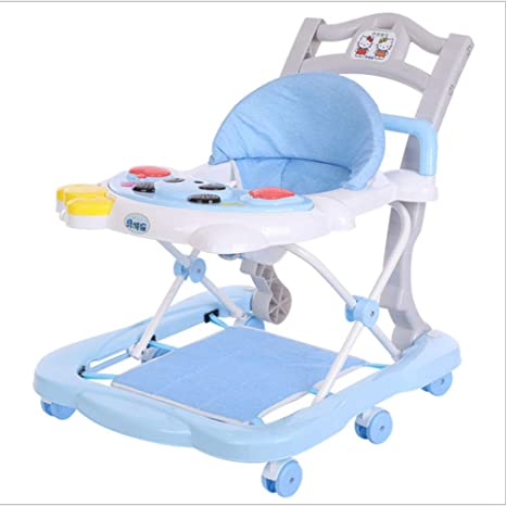 Andador, cuerpo de asiento de bebé anti-inclinación plegable ...