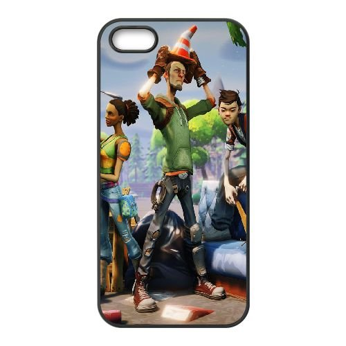 P1K21 fortnite K5Q6VF coque iPhone 5 5s cellulaire cas de téléphone couvercle coque noire KU3MHL8NH