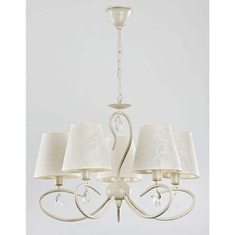 ALFA BALI White 5 Lampara de techo colgante Lampara de arana (E14,40W)