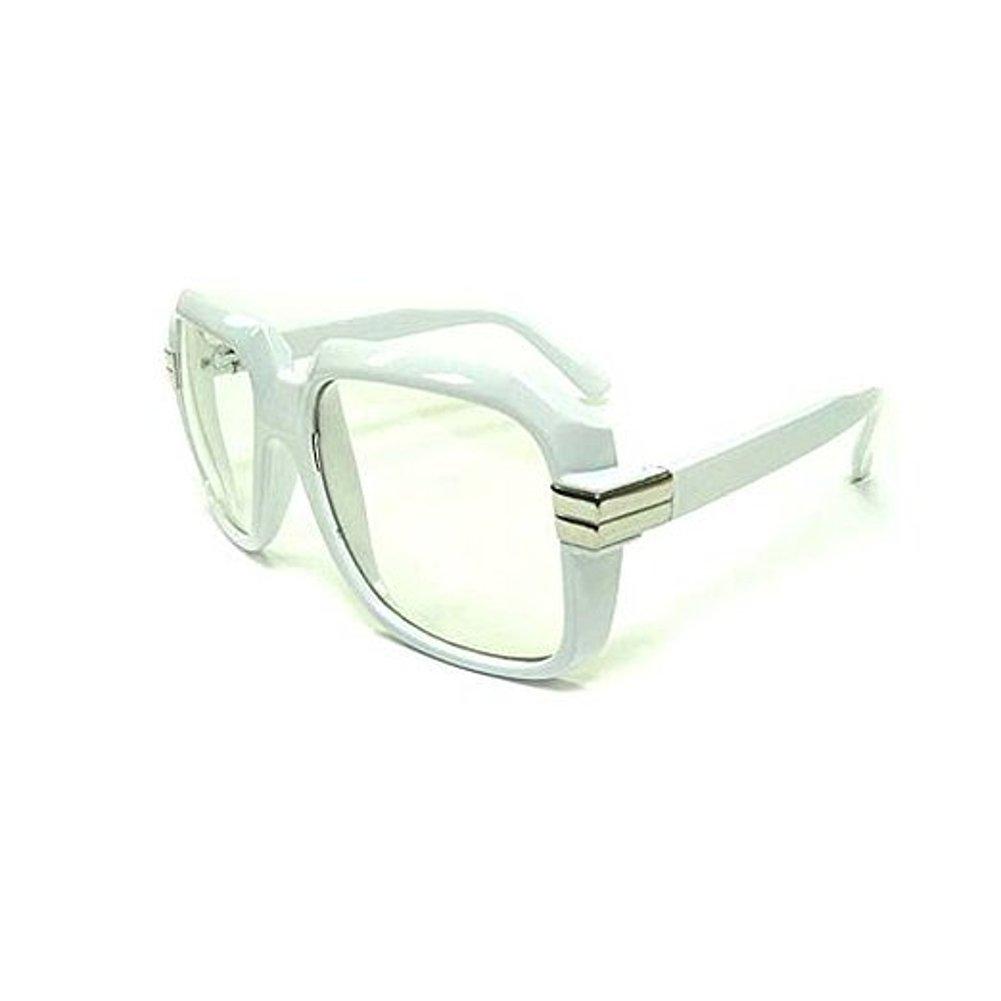 MyPartyShirt Oversized White Hip Hop Glasses