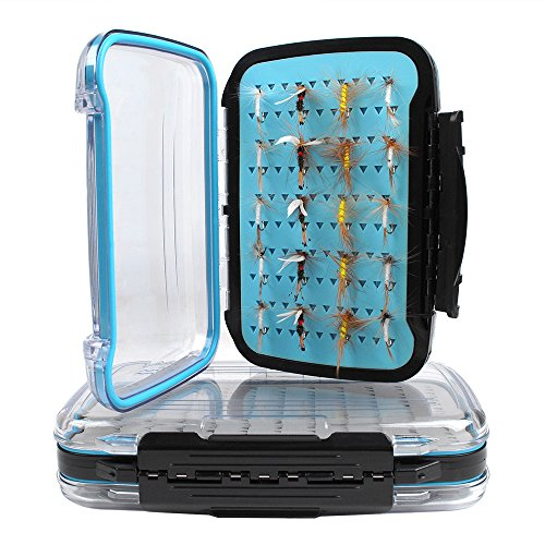 Dr.Fish [15% OFF] Large Fly Fishing Box Waterproof Flies Case Storage Double Sided Clear View Deep - Fly Large Box Waterproof