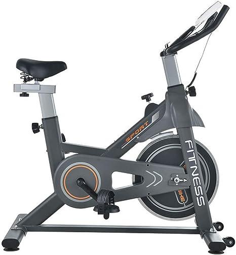 PUW Bicicleta de Spinning controlada magnéticamente Cubierta de Ejercicio Ultra silencioso Volante 6kg Asiento Perilla de Resistencia máxima de Ajuste de Agarre 150 kg de Carga se Puede Ajustar,Negro: Amazon.es: Deportes y