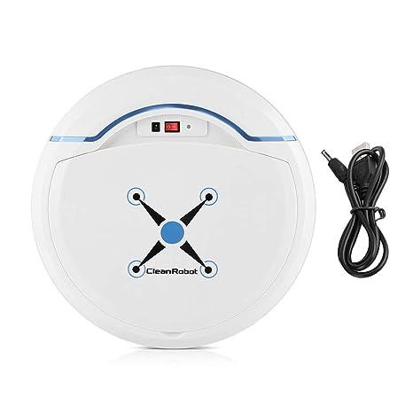 Zerodis Robot Aspirador, Limpiadores robóticos Limpiador USB Recargable Mini automático Smart Clean Robot Limpiador de Suelos Herramienta de Limpieza ...