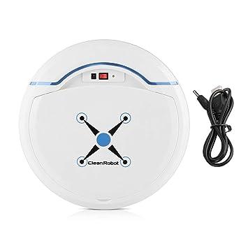 Zerodis Robot Aspirador, Limpiadores robóticos Limpiador USB Recargable Mini automático Smart Clean Robot Limpiador de Suelos Herramienta de Limpieza por ...