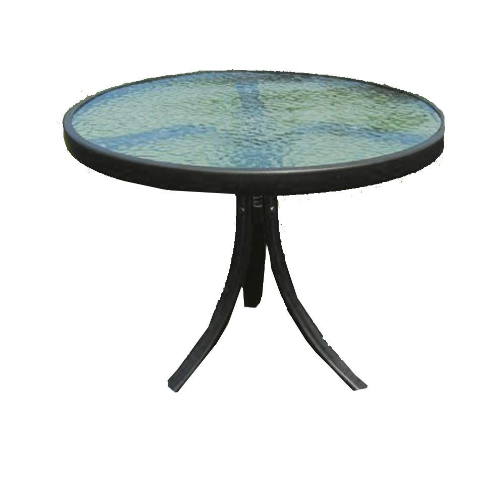 STS SUPPLIES Glass Top End Table for Garden Outdoor Metal Patio Round Furniture Yard & Ebook by AllTim3Shopping