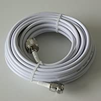 Phonetone 15 meters 50-3 Coaxial Cable RG58 Extension Cable N female to n male end 49.2 Feet