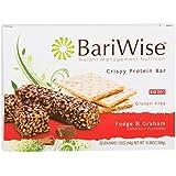 BariWise Crispy Protein Bar - Fudge & Graham (7ct), High Protein Bars, Trans Fat Free, Aspartame Free