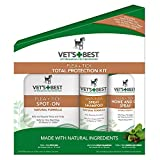 Vet's Best Flea & Tick Total Protection Kit for Dogs, 3 Pcs Set (2 Pack) ERFB