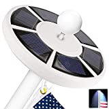 ZFITEI Solar Flag Pole Light,42 LED, Two-Grade Adjustment IP65 Waterproof Lighting for Most