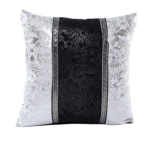 - Bokeley Pillow Case, Square Blue and White Porcelain Imitation Leather Decorative Throw Pillow Case Bed Home Decor Car Sofa Waist Cushion Cover (C)