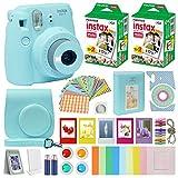 Fujifilm Instax Mini 9 - Cámara instantánea con Funda de Transporte + Fuji Instax Film Value Pack (40 Hojas) Accesorios Bundle, filtros de Color, álbum de Fotos, Marcos Surtidos, Lentes Selfie + más.