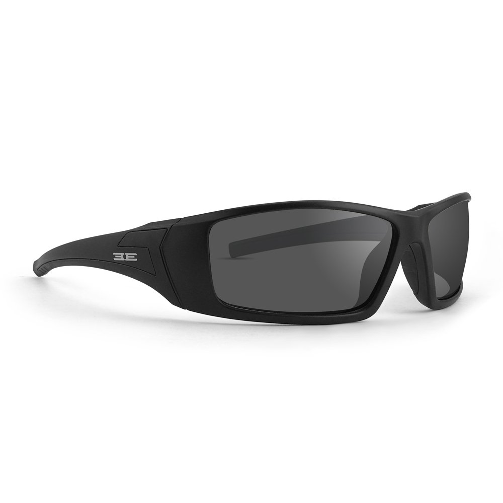 Epoch Eyewear EPOCH 3 Photochromic Motorcycle Sunglasses Black Frames Clear to Smoke lens