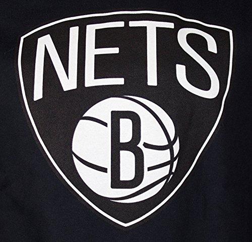 Mitchell & Ness Logo della squadra Crew felpa uomo–Brooklyn Nets–Black