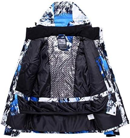 YEEFINE Men's Ski Jacket and Pants Set Waterproof Mountain Snow Snowboard Jacket Winter Outdoor Windproof Snowsuit