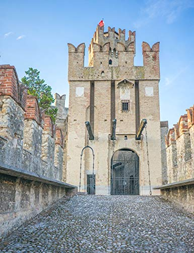 Home Comforts Peel-n-Stick Poster of Castle Entrance Lake Garda Gate Scaliger Castle Vivid Imagery Poster 24 x 16 Adhesive Sticker Poster Print
