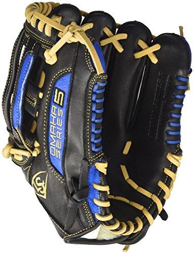 Louisville Slugger Omaha S5 Infielder's Glove, Left, Black/Royal, ()