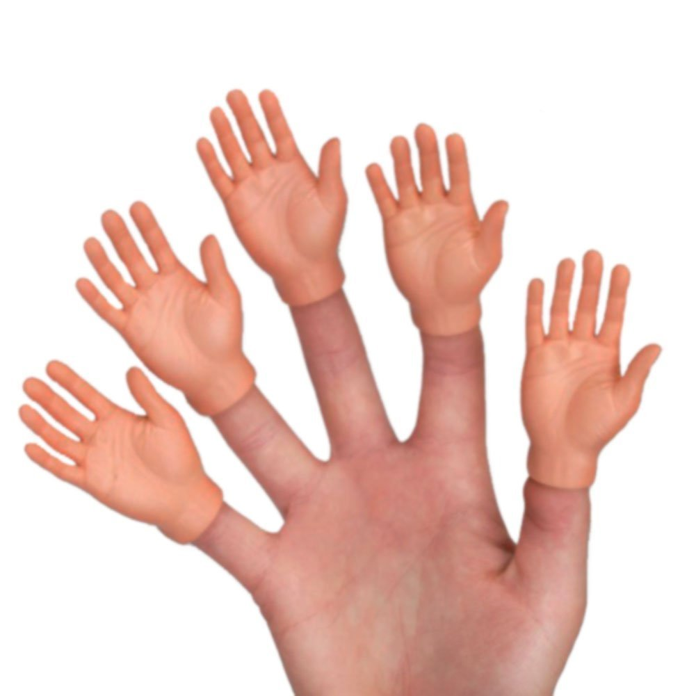 Set Of Five Finger Hands Finger Puppets Accoutrements