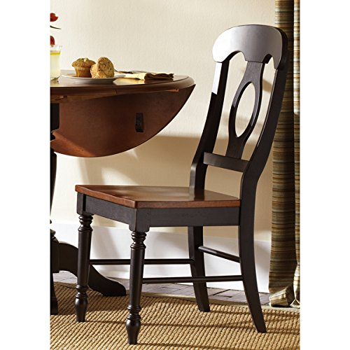 Farmhouse Country Anchor Black and Bronze Napolean Dining Chair (Napolean Chairs)