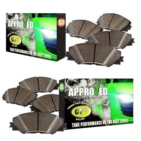 Approved Performance G21166P - [Front & Rear] Set of Carbon Fiber Impregnated Brake Pads