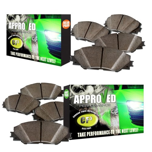 Approved Performance J32436P - [Front & Rear] Set of Carbon Fiber Impregnated Brake Pads ()