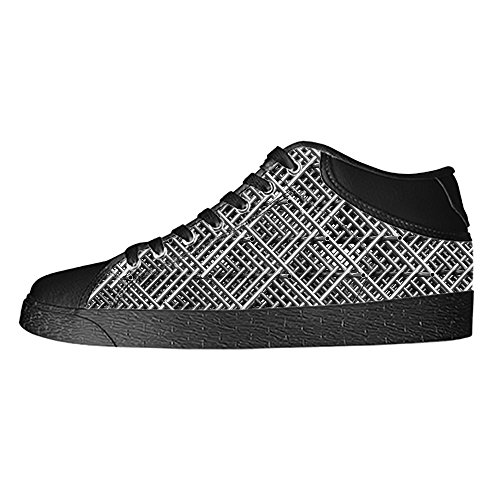 Custom Shape Pattern Womens Classic High Top Canvas Shoes Fashion Sneaker (Chargers Nike Shoe San Diego)