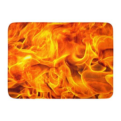 Koperororo Doormats Bath Rugs Outdoor/Indoor Door Mat Fire Flame Fragment Blaze Burn Heat Bathroom Decor Rug 16 24 inch;