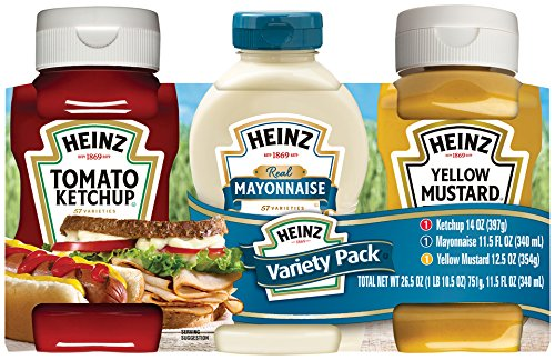 Heinz Picnic Pack with Ketchup, Mayonnaise and Mustard, 26.5 oz