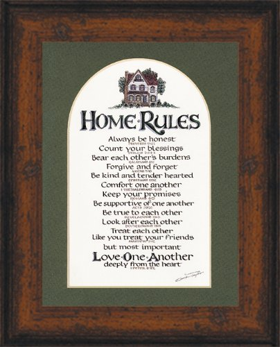"""Christian Home Rules Scripture Gift Frame 7"""" X 9"""""""