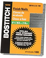 Stanley Bostitch SB16-1.25-1M Gauge Bright Finish Nail, 1,000 per Box