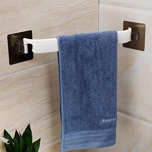 - MBYW Modern Minimalist high Load-Bearing Towel Rack Bathroom Towel Rail Suction CupCorner Flat Towel Rack38cm Suitable for Bathroom, Bedroom, Kitchen, Office, bar, Workshop