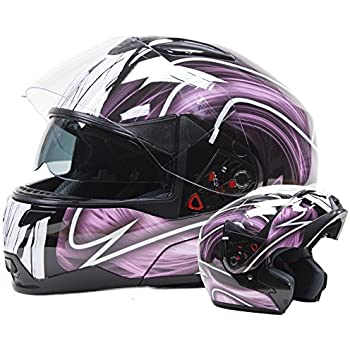 Adult Off Road Helmet DOT Dirt Bike Motocross ATV Motorcycle Offroad (Pink, XX-Large)