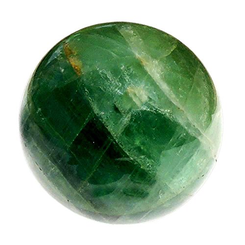Satyamani Green Flourite Gemstone Sphere Ball (401gm-500gm) by Satyamani