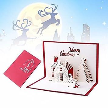 Postal tarjeta felicitación Buon Navidad Origami Pop Up ...
