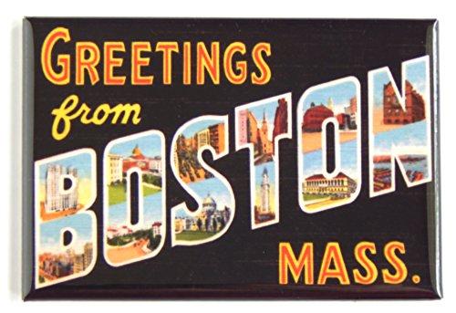 Greetings From Boston Fridge Magnet (2 x 3 ()