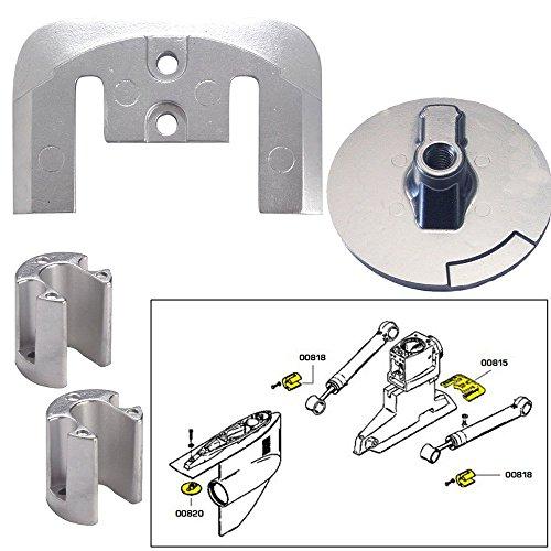 Tecnoseal Anode Kit w/Hardware - Mercury Bravo 2-3 - Zinc