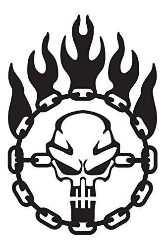 Immortan Joe War Logo Chain Skull Steering Wheel Mad Max Inspired Vinyl Decal - Small - Black ()