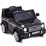 (US) Costzon Kids Ride On Car, Licensed Mercedes Benz G65, 12V Battery Powered Electric Vehicle, Parental Remote Control & Manual Modes, Music, Horn, LED Headlights, USB MP3 Functions, Black