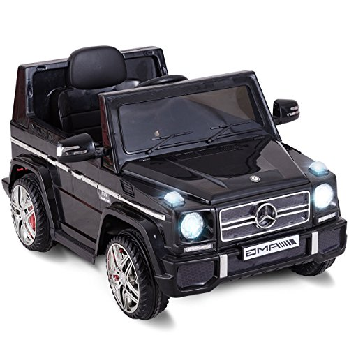 Costzon Kids Ride On Car, Licensed Mercedes Benz G65, 12V Electric RC Remote Control Car (Black)