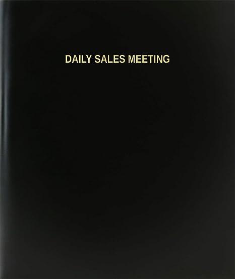 amazon com bookfactory daily sales meeting log book journal